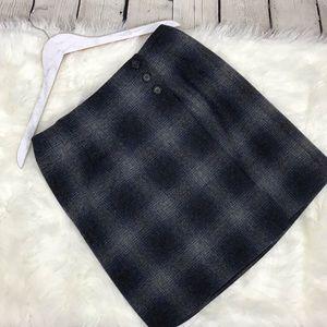 Vintage Ralph Lauren Plaid Lambswool mini skirt